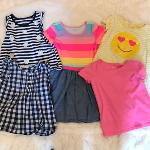 Children's Place lot of tops/dress 5T
